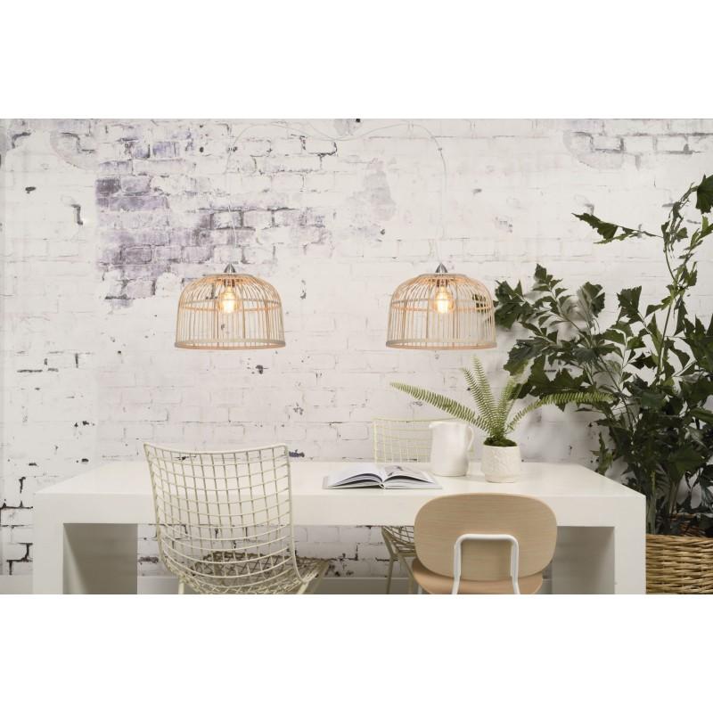 Lámpara de suspensión de bambú BORNEO SMALL 2 pantallas (natural) - image 45072