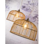 Lampe à suspension en bambou BORNEO XL (naturel)
