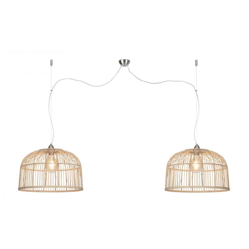 BAMBOO Hängeleuchte BORNEO XL 2 Lampenschirme (natürlich)
