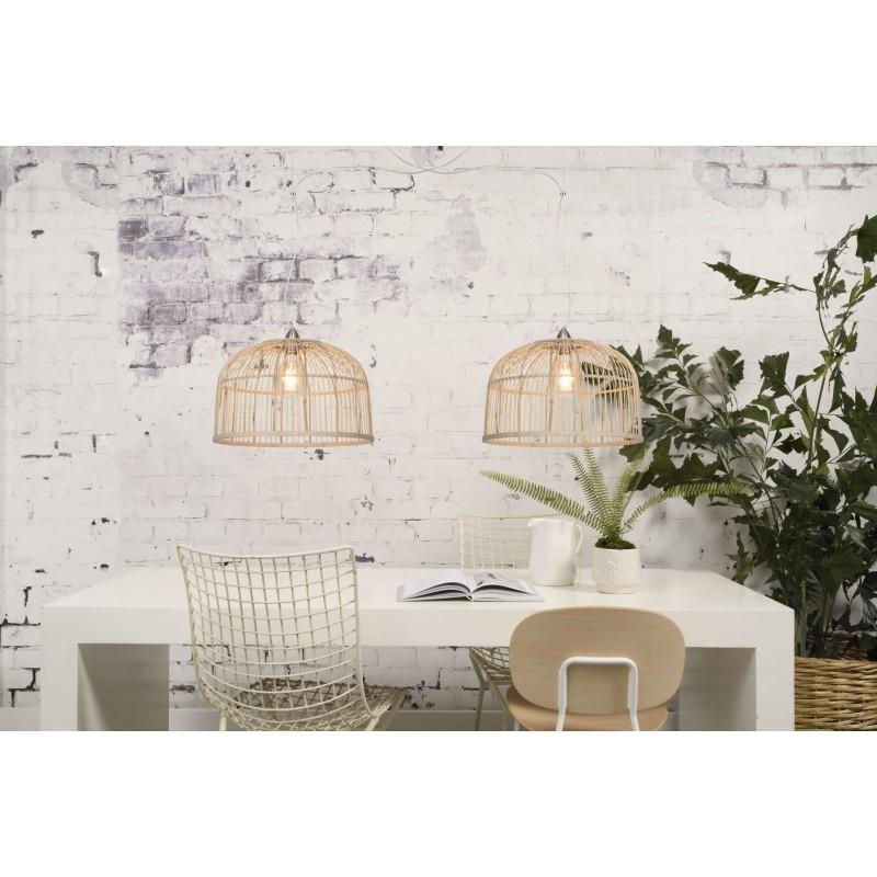 Lampe à suspension en bambou BORNEO XL 2 abat-jours (naturel) - image 45090