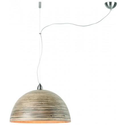 Lampe à suspension en bambou HALONG (naturel)