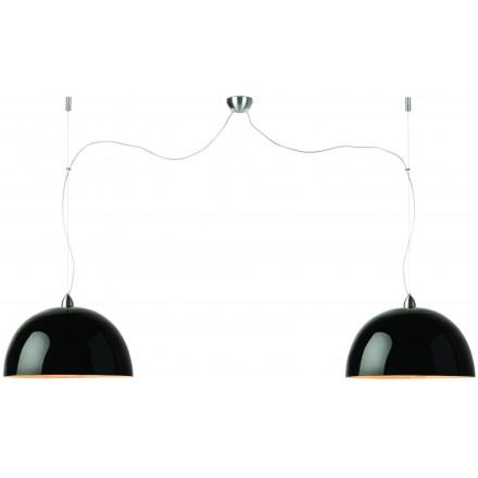 HALONG Bamboo Suspension Lamp 2 lampshades (black)