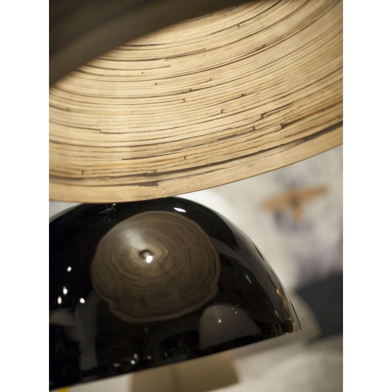 HALONG Bamboo Hängeleuchte 2 Lampenschirme (schwarz) - image 45132