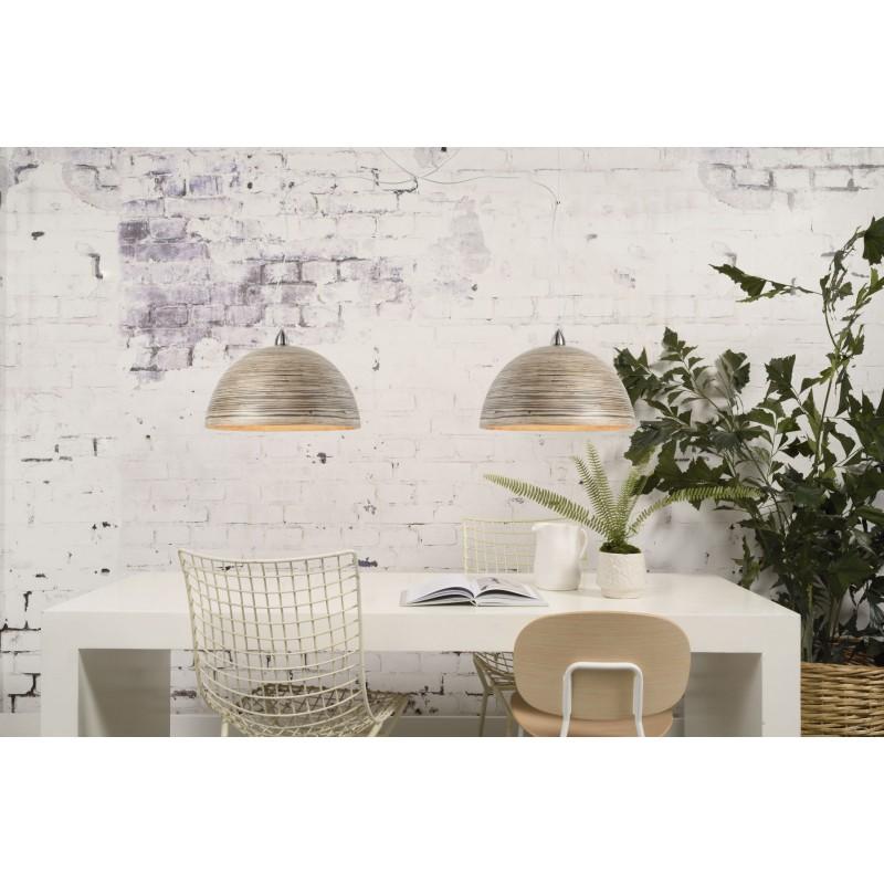 HALONG Bamboo Hängeleuchte 2 Lampenschirme (natürlich) - image 45142