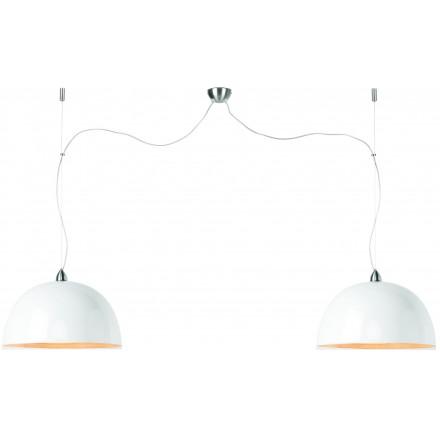 HALONG Bamboo Suspension Lamp 2 lampshades (white)