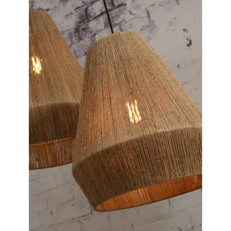 Lampe à suspension en jute IGUAZU SMALL (Ø 40 cm) (naturel) - image 45175