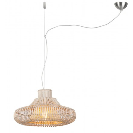 Lámpara de suspensión de ratán KALAHARI SMALL (natural)