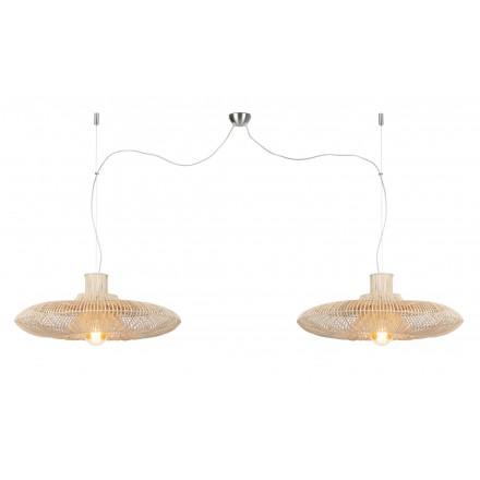 KALAHARI XL 2 Lampenschirm (natürlich) Rattan Hängeleuchte