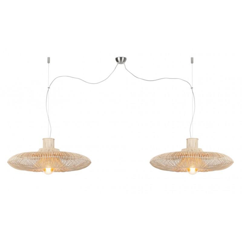 KaLAHARI XL 2 paralume (naturale) lampada in rattan