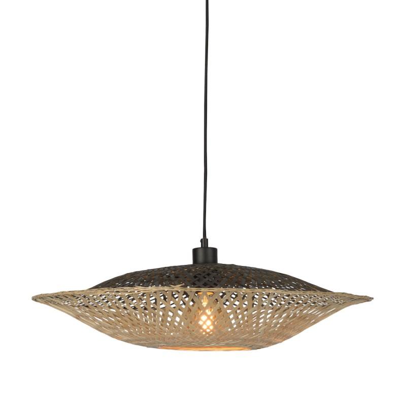 KALIMANTAN SMALL bamboo suspension lamp (natural, black) - image 45221