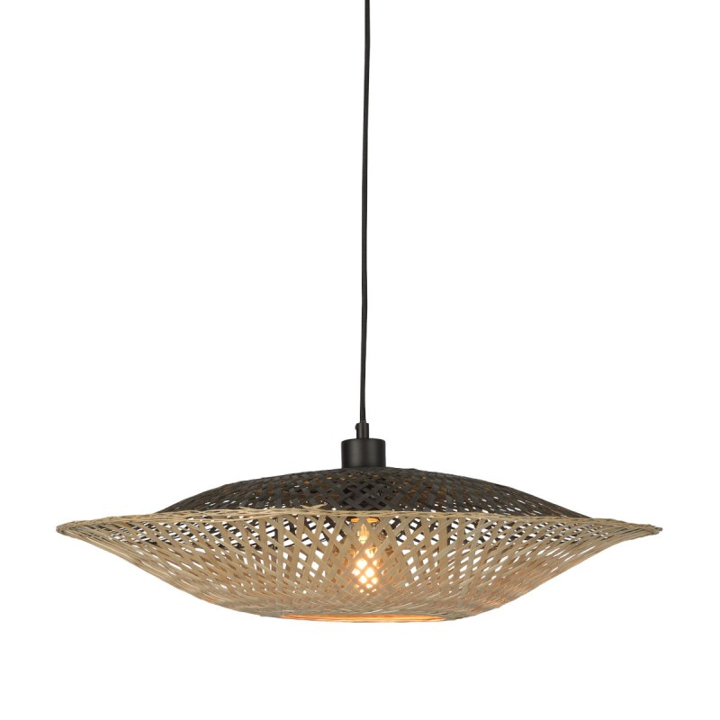 KaliMANTAN SMALL lámpara de suspensión de bambú (natural, negro) - image 45221