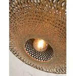 Lampe à suspension en bambou KALIMANTAN SMALL (naturel, noir)