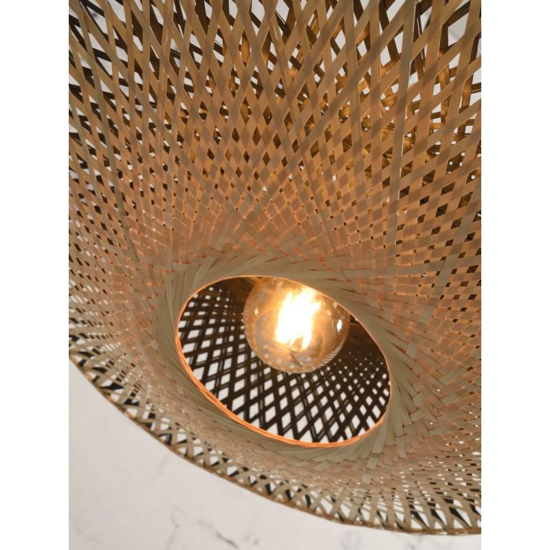 Lampe à suspension en bambou KALIMANTAN SMALL (naturel, noir) - image 45227