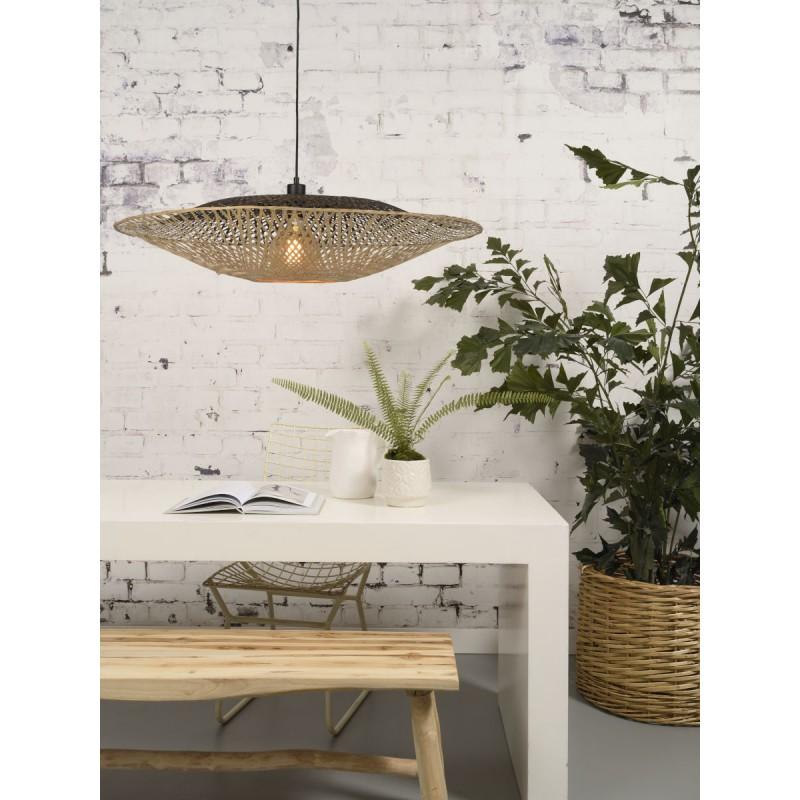 Lámpara de suspensión de bambú KALIMANTAN XL (natural, negro) - image 45233