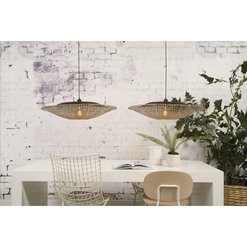 KALIMANTAN XL bamboo suspension lamp (natural, black) - image 45234