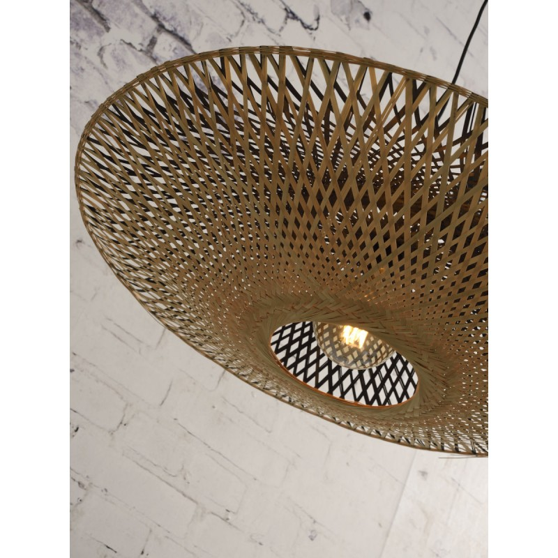 KALIMANTAN XL bamboo suspension lamp (natural, black) - image 45236