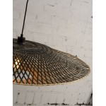 Lampe à suspension en bambou KALIMANTAN XL (naturel, noir)