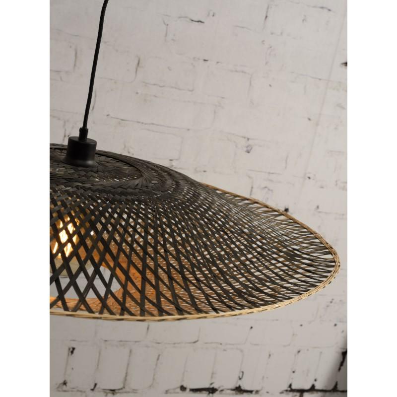 Lámpara de suspensión de bambú KALIMANTAN XL (natural, negro) - image 45242