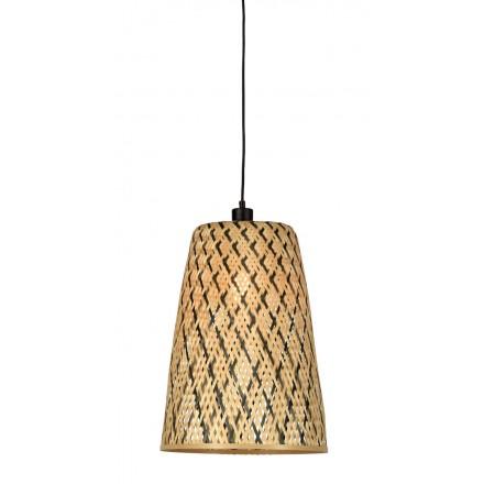KALIMANTAN H48 lampada a sospensione bambù (naturale, nera)
