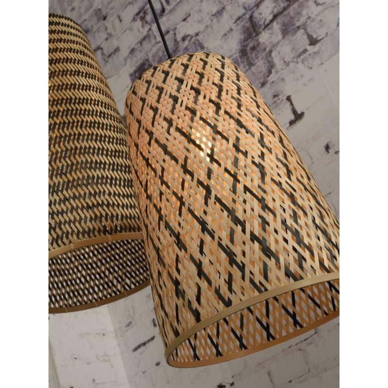 KALIMANTAN H48 bamboo suspension lamp (natural, black) - image 45263