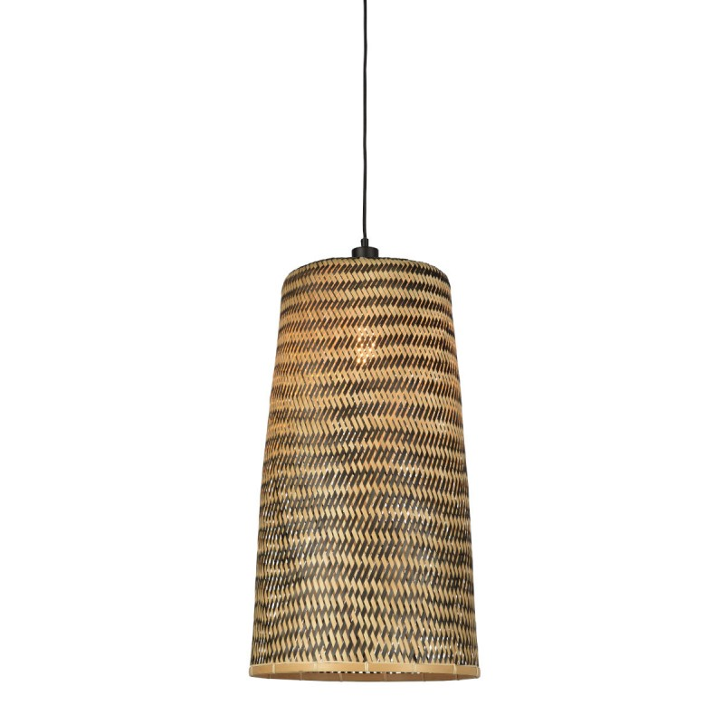 Lámpara de suspensión de bambú KALIMANTAN H66 (natural, negro) - image 45266