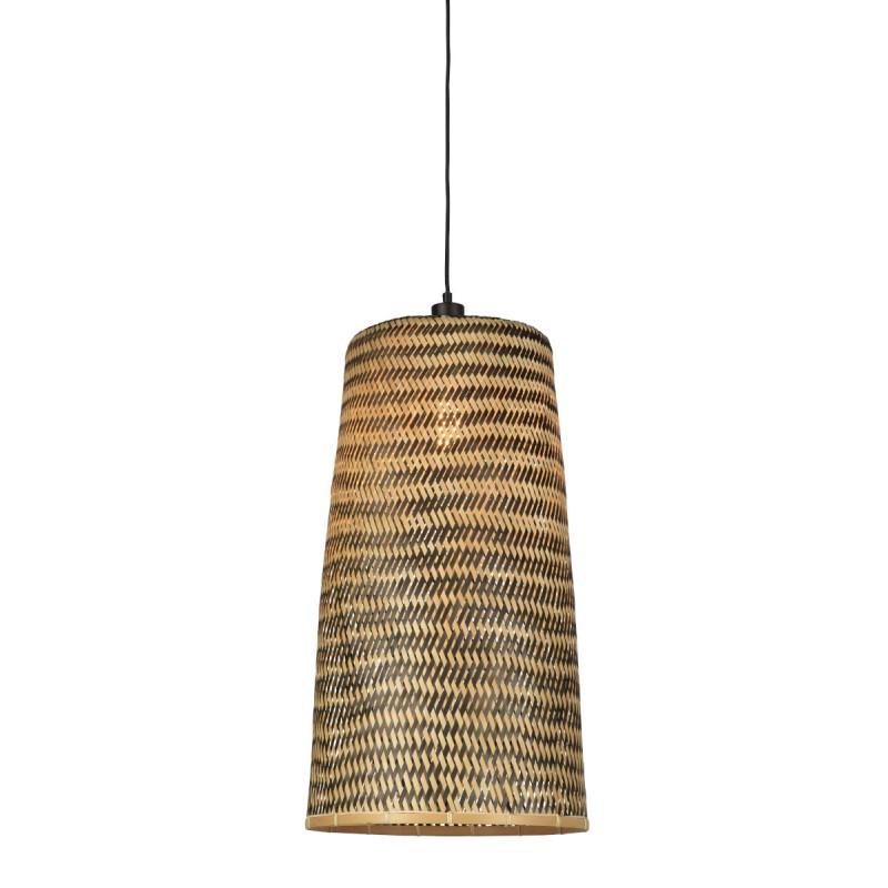 Lampe à suspension en bambou KALIMANTAN H66 (naturel, noir) - image 45266