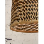 Lámpara de suspensión de bambú KALIMANTAN H66 (natural, negro)