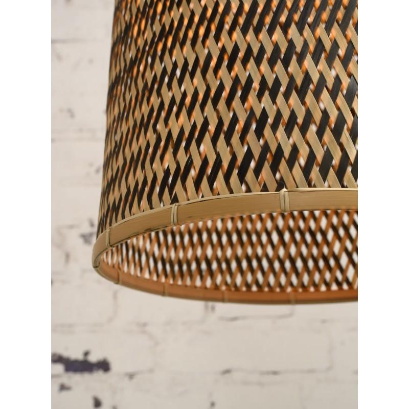 Lampe à suspension en bambou KALIMANTAN H66 (naturel, noir) - image 45273