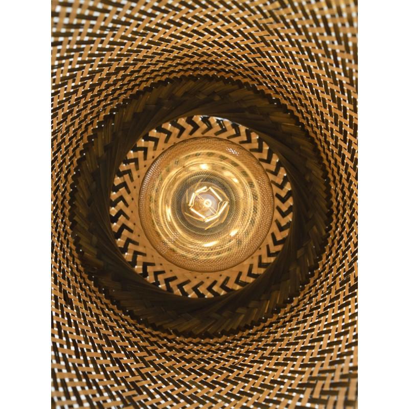 Lampe à suspension en bambou KALIMANTAN H66 (naturel, noir) - image 45275