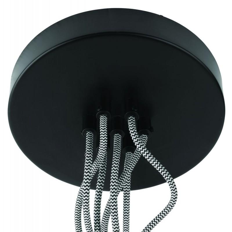 Lampe à suspension en bambou KALIMANTAN 7 abat-jours (naturel, noir) - image 45287