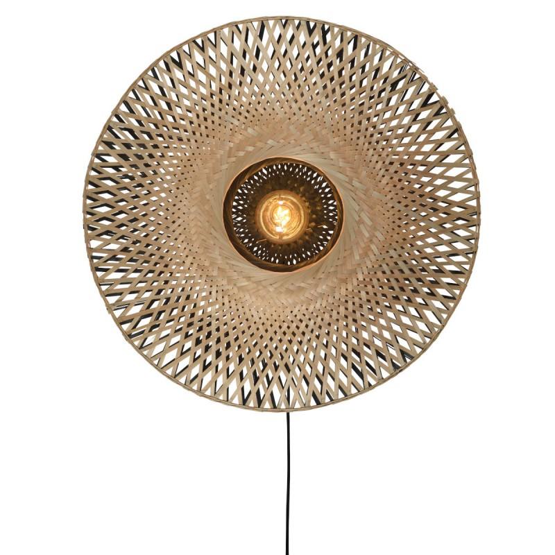 KaliMANTAN SMALL bambú pared aplique (natural, negro) - image 45289