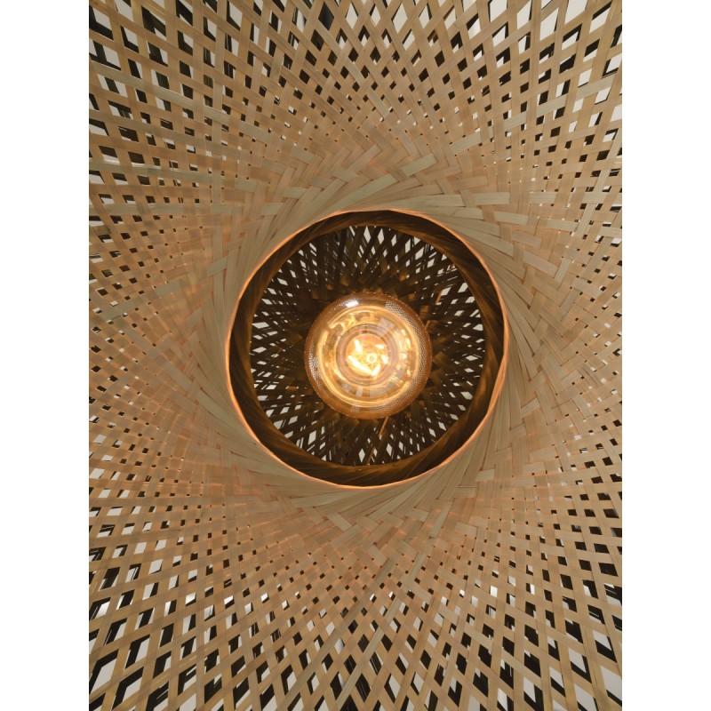 KaliMANTAN SMALL bamboo wall applique (natural, black) - image 45294