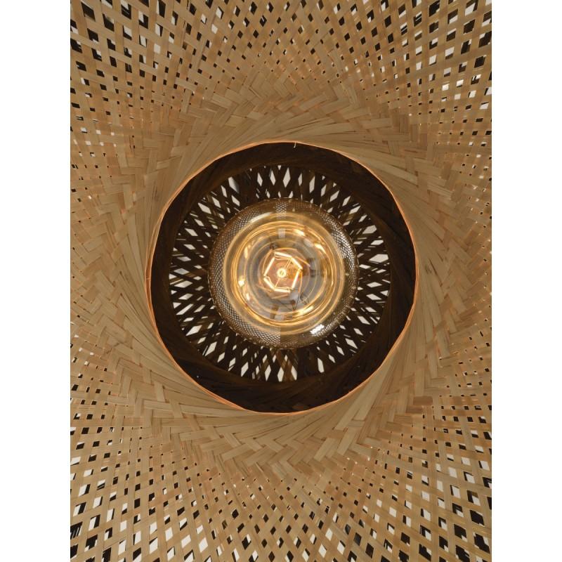 KaliMANTAN XL aplique de pared de bambú (natural, negro) - image 45302