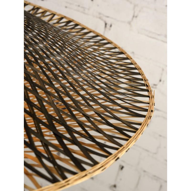 KaliMANTAN XL aplique de pared de bambú (natural, negro) - image 45304