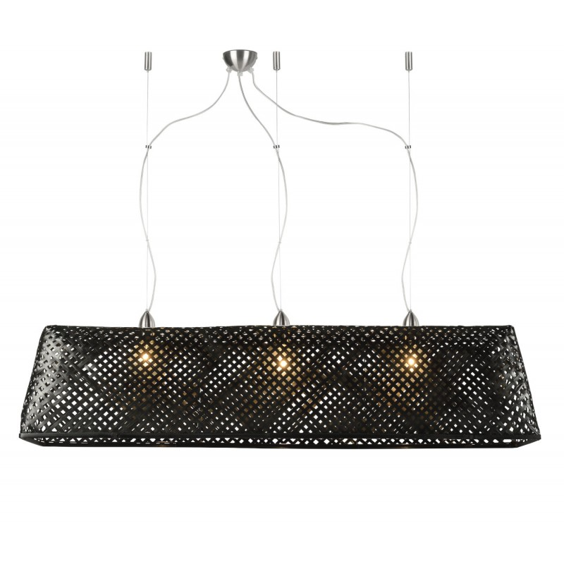 Lampe à suspension en bambou KOMODO (noir) - image 45305
