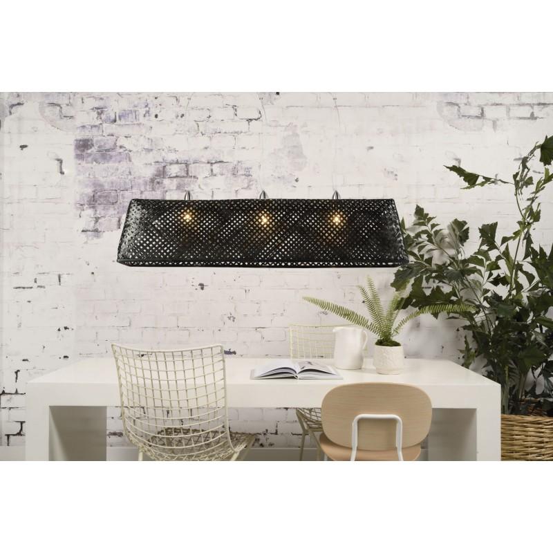 Lámpara de suspensión de bambú KOMODO (negro) - image 45307