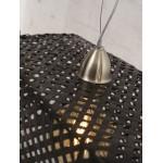 Lámpara de suspensión de bambú KOMODO (negro)