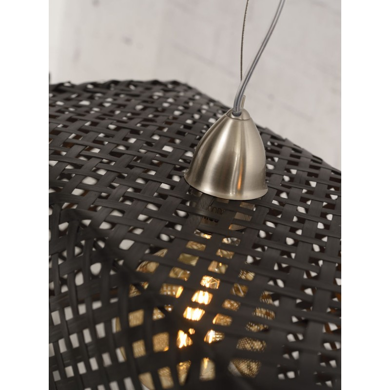KOMODO bamboo suspension lamp (black) - image 45309