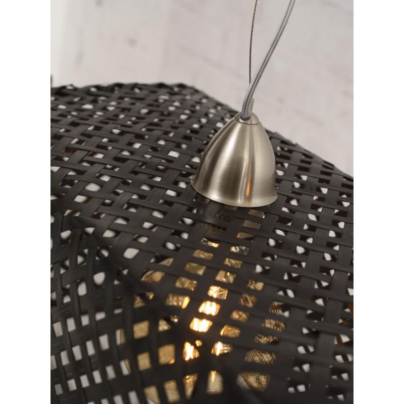 Lámpara de suspensión de bambú KOMODO (negro) - image 45309