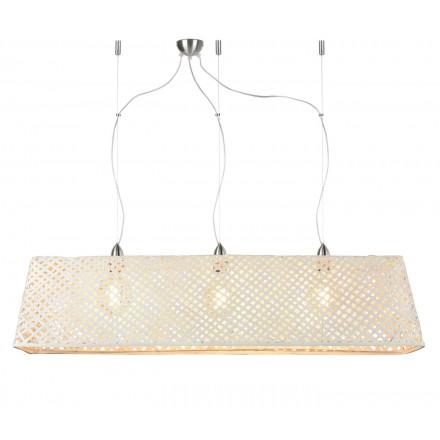 KOMODO bamboo suspension lamp (white)