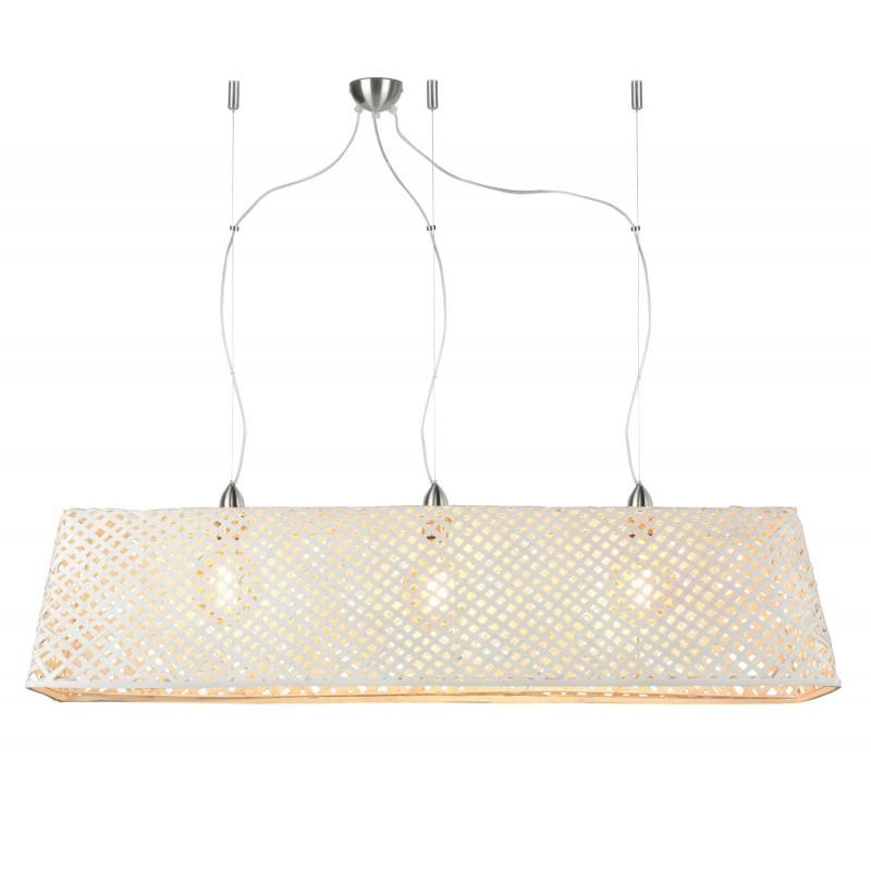 Lampe à suspension en bambou KOMODO (blanc) - image 45324