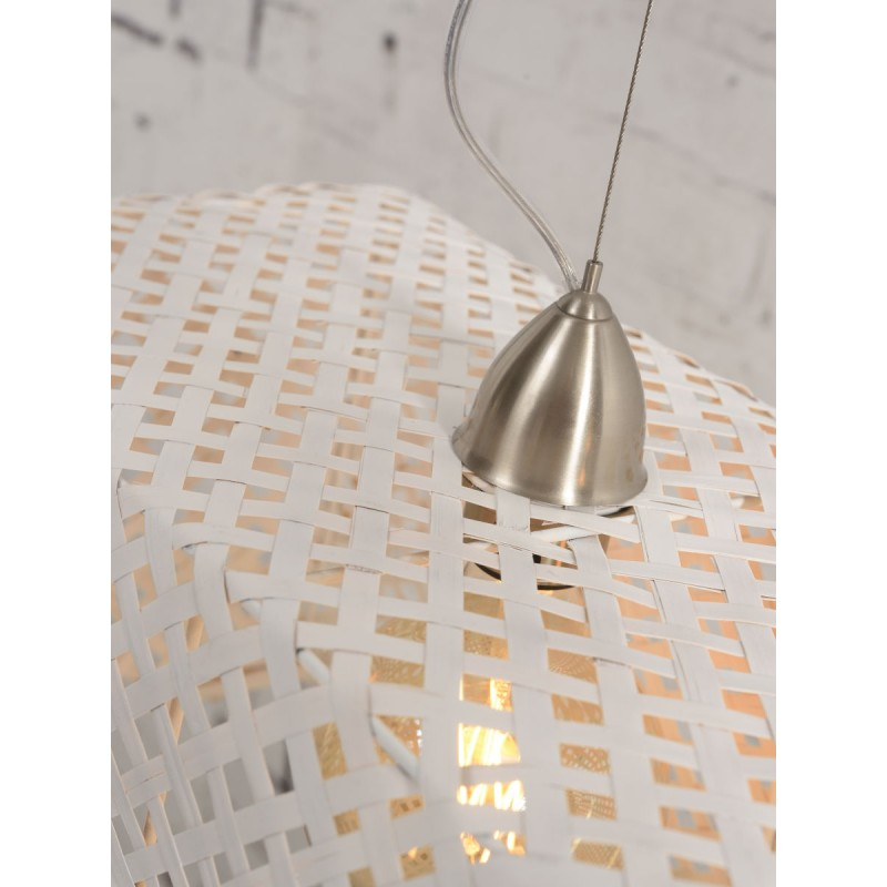 KOMODO bamboo suspension lamp (white) - image 45328