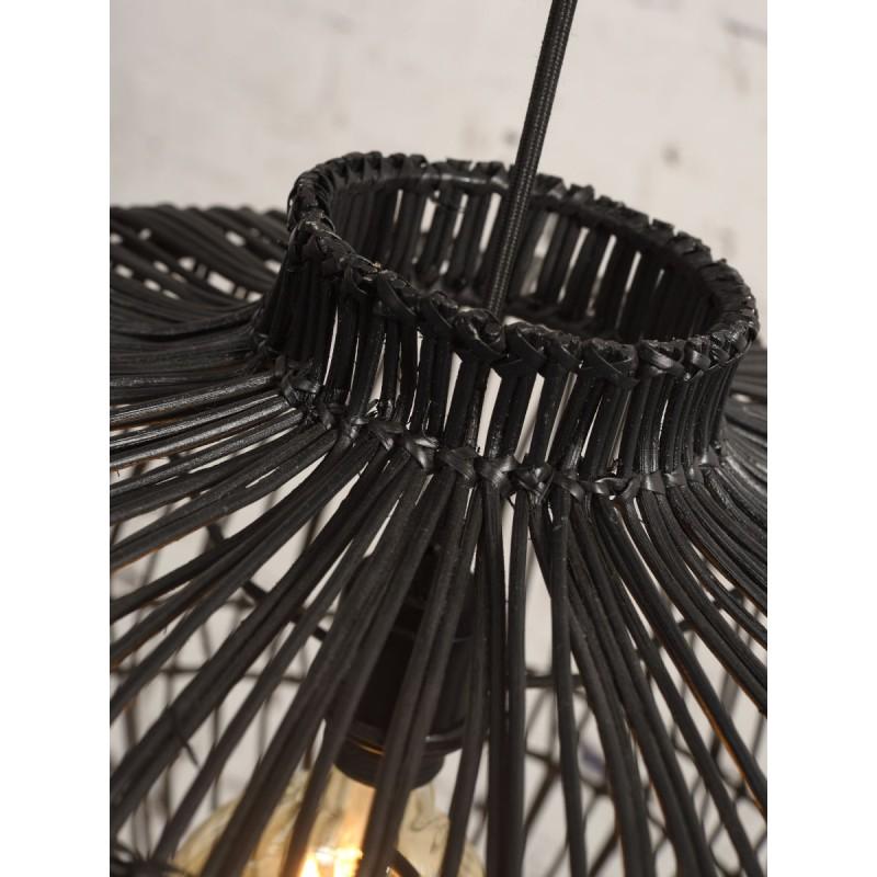 Lampe à suspension en rotin MADAGASCAR (noir) - image 45337