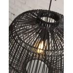 Lámpara de suspensión de ratán MADAGASCAR (negro)
