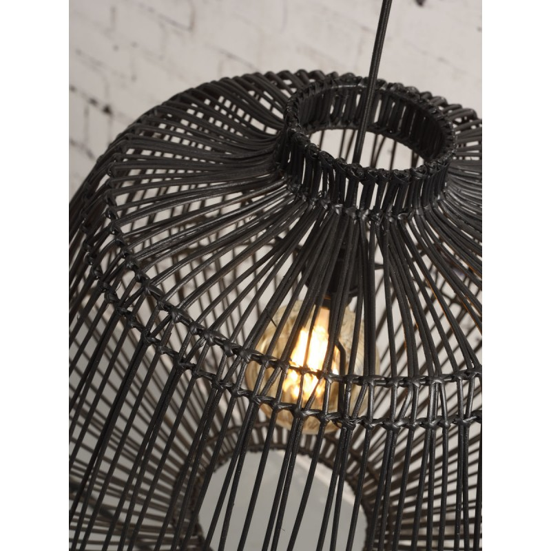 Lampada a sospensione RATtan MADAGASCAR (nero) - image 45338