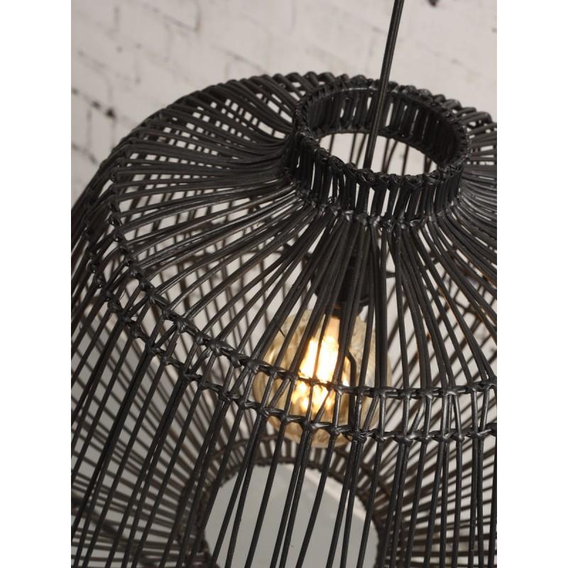 Lampe à suspension en rotin MADAGASCAR (noir) - image 45338