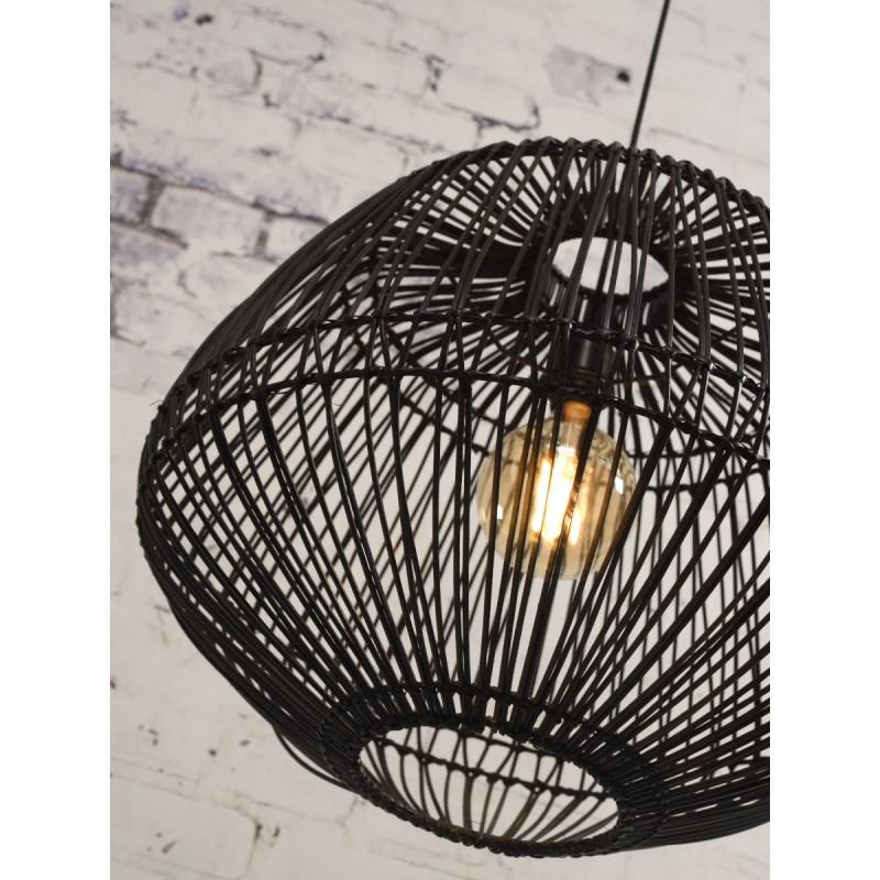 Lampe à suspension en rotin MADAGASCAR (noir) - image 45339