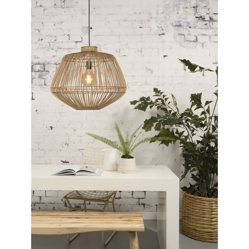 MADAGASCAR rattan suspension lamp (natural) - image 45342