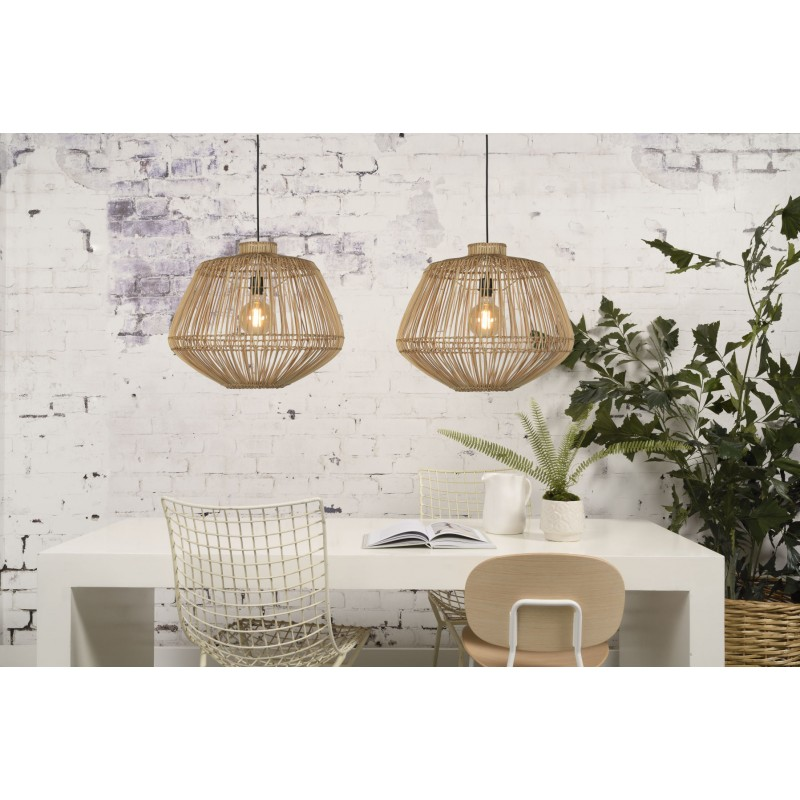 MADAGASCAR rattan suspension lamp (natural) - image 45343