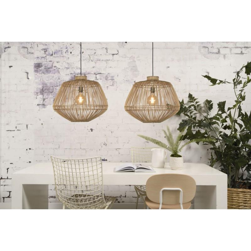 Lampe à suspension en rotin MADAGASCAR (naturel) - image 45343